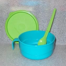 Tupperware Baby Feeding Microwave Bowl Mug Plus Hang On Spoo