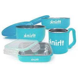 Thinkbaby Feeding Set - BPA Free - The Complete - Light Blue