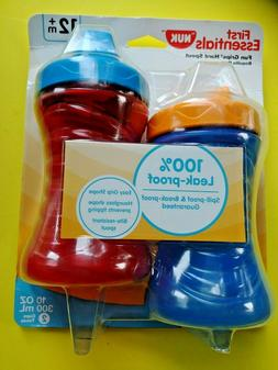 First Essentials By NUK Fun Grips Hard Spout 10 Oz Cups Leak
