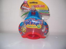 Nuby Flip n sip 8 oz no spill sippy cup New red blue