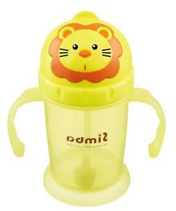 Simba Flip-it Straw Training Cup, Yellow, 8 Ounce