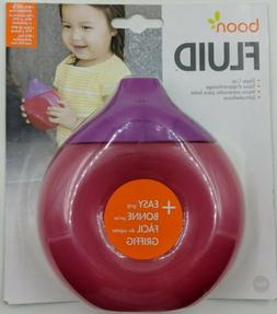Boon Fluid Baby Toddler Sippy Cup Pink & Purple- BPA Free- E