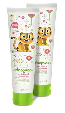 Babyganics Fluoride Free Toothpaste, Watermelon, 4oz Tube