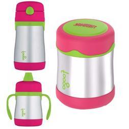 Thermos Foogo 10 oz Insulated Food Jar, Straw Drink Bottle &