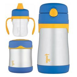Thermos Foogo 10oz Straw Bottle, 10oz Food Jar, and 8oz Soft