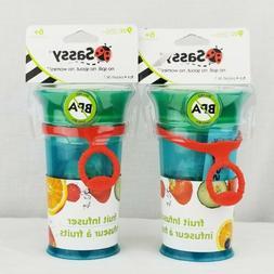 Sassy 9oz Fruit Infuser Cup, Blue