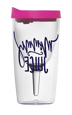 The Navy Knot Funny Quote Wine Tumbler Vino2go -Pink Lid Win