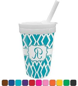 geometric diamond sippy cup with straw personalized