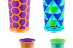 Sassy 2 Pack 9 Ounce Grow Up Cup - Orange/Green