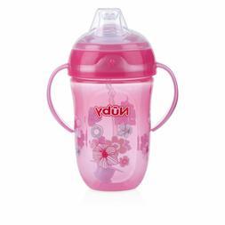 Nuby 360 2 Handle Comfort Cup, Girl, 9 Ounce