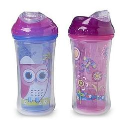 Nuby 9-Ounce Insulated Clik-It Cool Sipper 2-Pack - Whale &