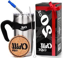 Insulated Travel Coffee Thermal Mug - 20 oz Double Wall Vacu