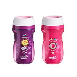 Tommee Tippee 2 Pack 8 Ounce 360 Degree Insulated Cup - Pink