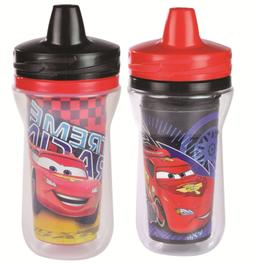 The First Years 2 Pack 9 Ounce Insulated Sippy Cup, Cars/Pat
