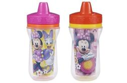 The First Years 2 Pack 9 Ounce Insulated Sippy Cup, Minnie M