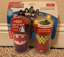 NUK Insulated Sippy Cup, Batgirl & Wonder Woman, LEAK &  SPI