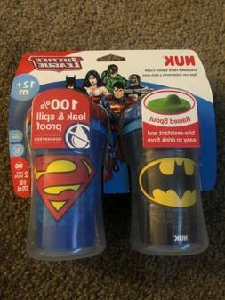NUK Insulated Sippy Cup, Batman & Superman Justice League 9o