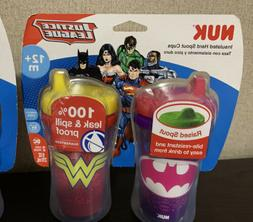 NUK Insulated Sippy Cup Justice League 9oz Lot Of 2pk Toddle
