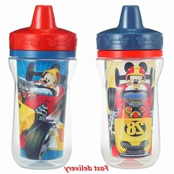 The First Years Insulated Sippy Cups, Mickey Mouse, 9 Ounce