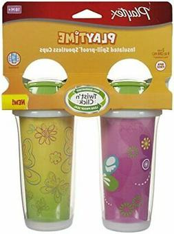 Playtex Insulator/Playtime Cup, 9 Ounce, Butterflies Theme,