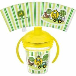 John Deere Tractor Tervis Kid child Toddler Sippy Cup Farm A