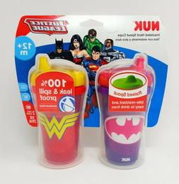 NUK Insulated Sippy Cup, Batgirl & Wonder Woman, 9oz 2pk