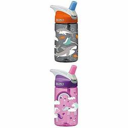 CamelBak Kids Eddy Water Bottle, 0.4 L, Sharks Kids Eddy Wat