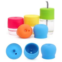 Kids Silicone <font><b>Cup</b></font> Cover Stretchable Baby