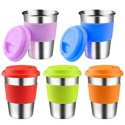 Kids Stainless Steel Cups With Silicone Lids & Sleeves, Kere