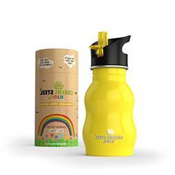 Kids Stainless Steel Water Bottle 12 oz - Sippy Cup Leak Pro