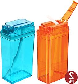 Kids Water Bottle With Straw -Reuasable Juice Boxes For Kids