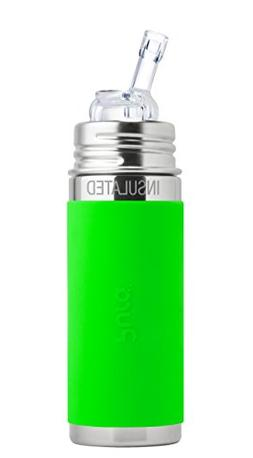 Pura Insulated Stainless Steel Bottle With Silicone Straw &
