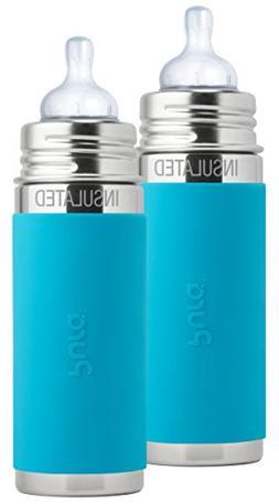 Pura Kiki Stainless Steel Vacuum Insulated Infant Bottle Aqu