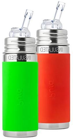Pura Kiki Stainless Steel Vacuum Insulated Straw Bottle, 9 O