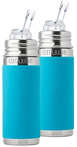 Pura Kiki Stainless Steel Vacuum Insulated Straw Bottle with