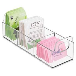 mDesign Small Plastic Kitchen Pantry, Cabinet, Countertop Or