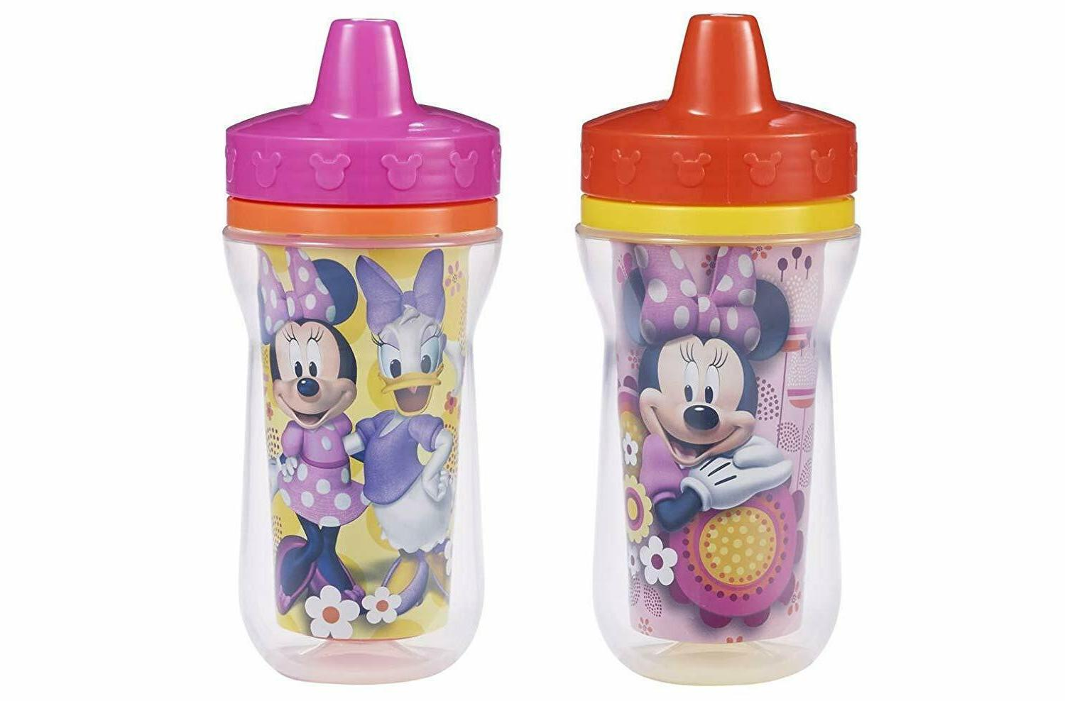 The First Years Insulated Sippy Cups, Minnie Mouse, 9 Ounce