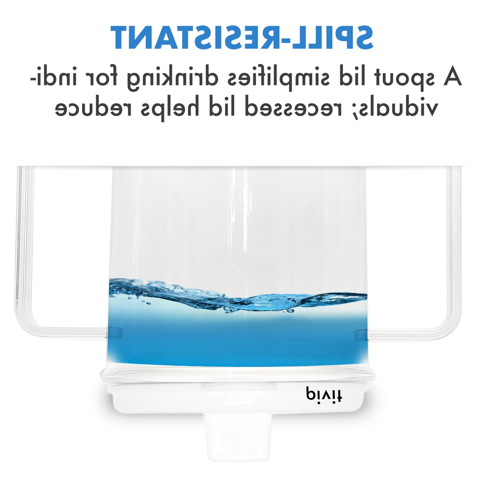 2 Cups Spill-Proof 8 Mug With For