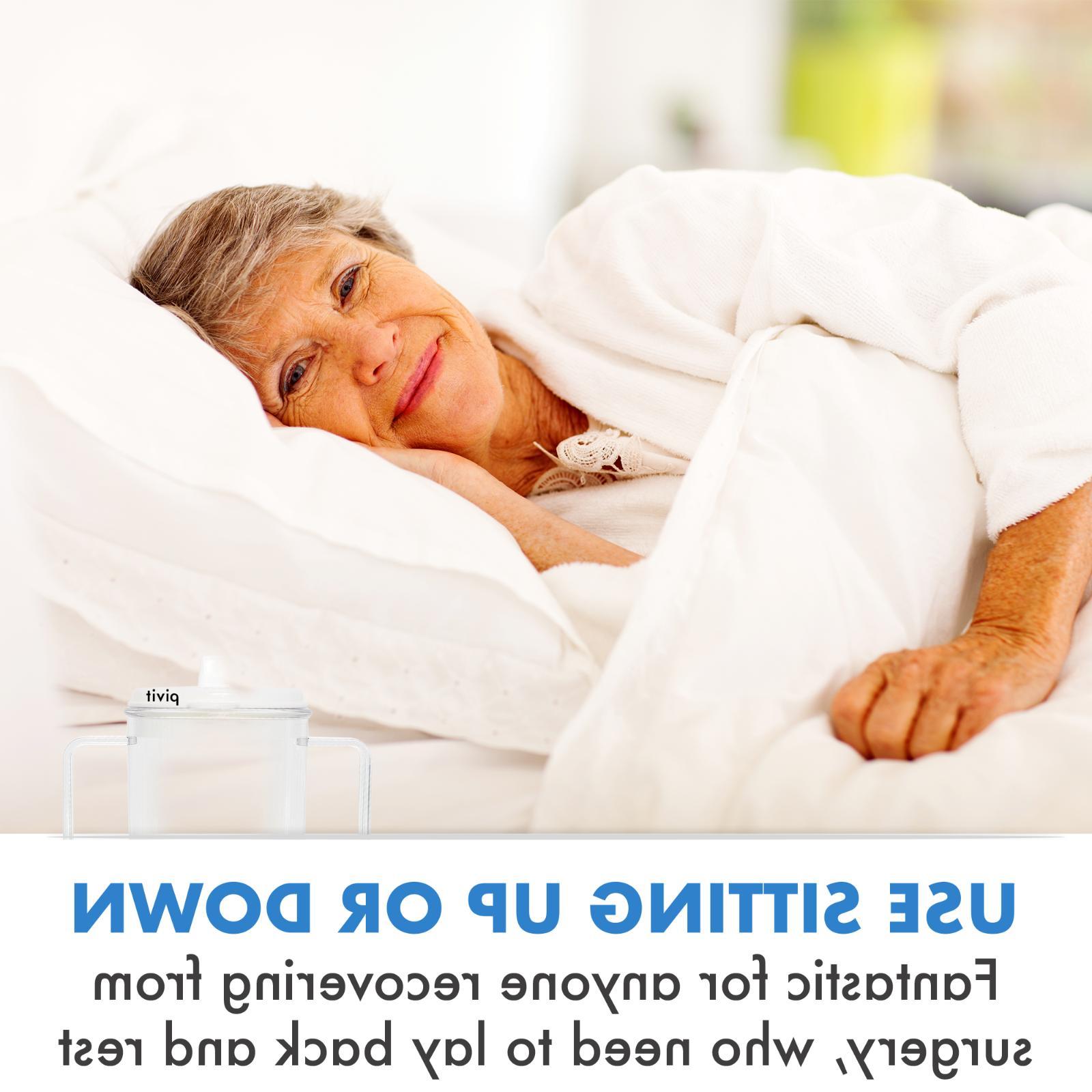 2 Pack Adult Cups 8 Mug For Elderly Parkinsons