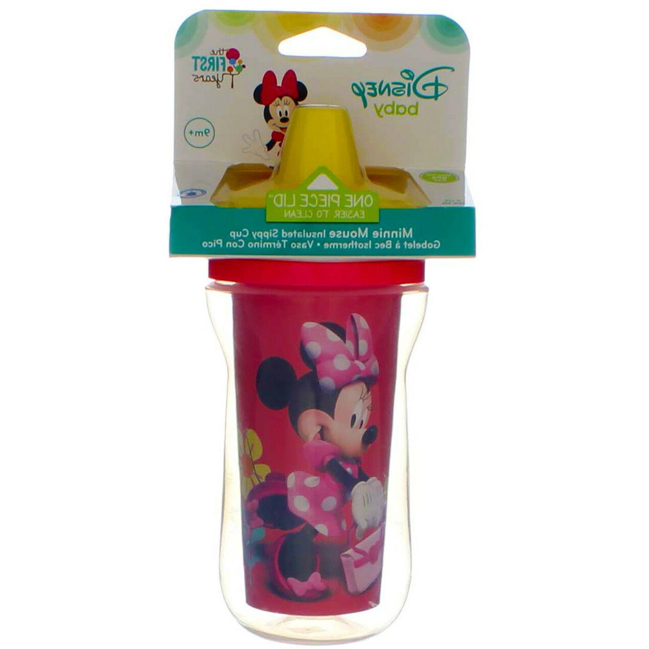 2 Disney Minnie   / 9oz Insulated Sippy BPA Free