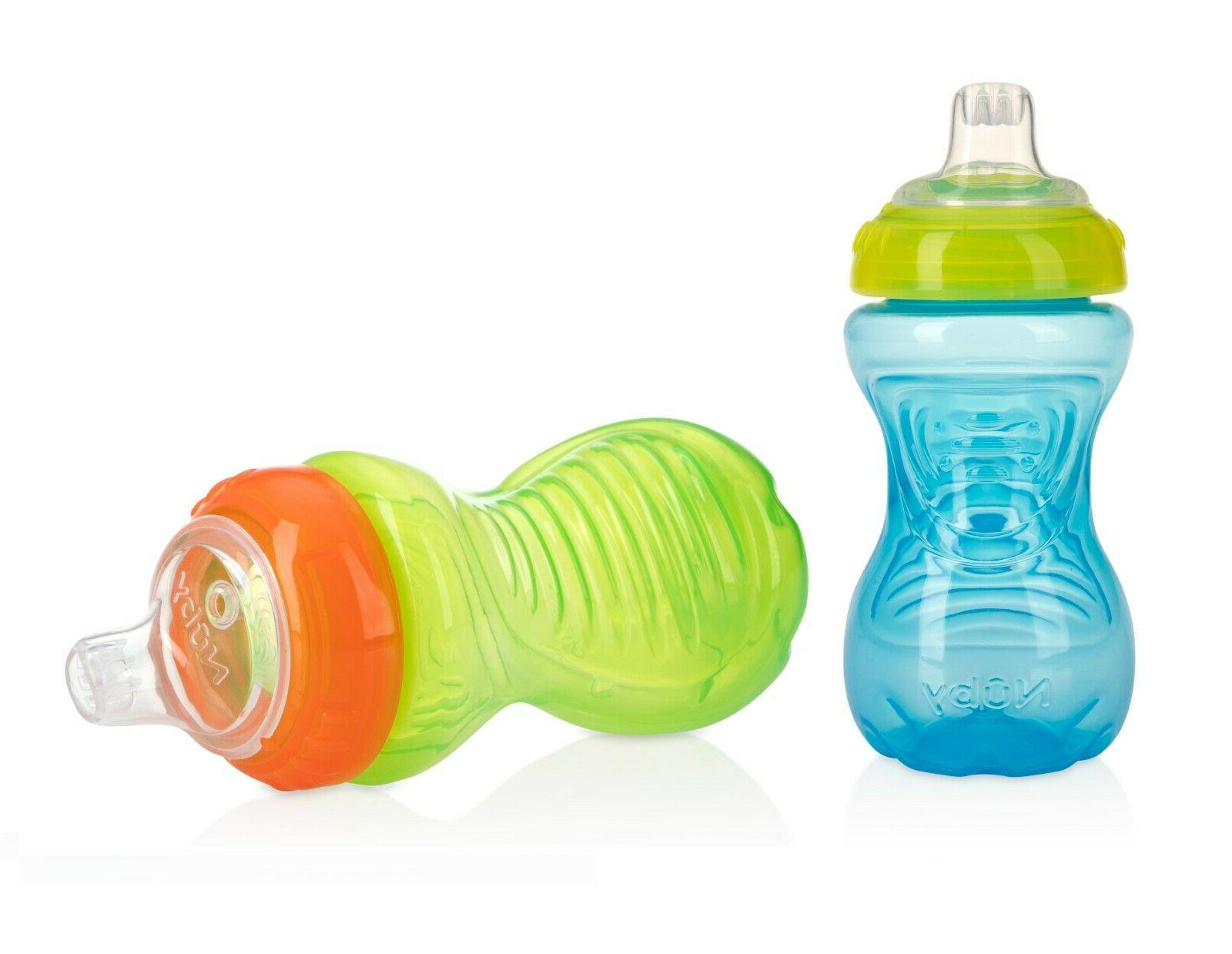 Nuby No-Spill Easy Grip Cups, 10