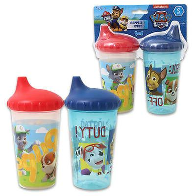 2-pack Paw Patrol Spill Proof oz Sippy Cups Marshall Rocky
