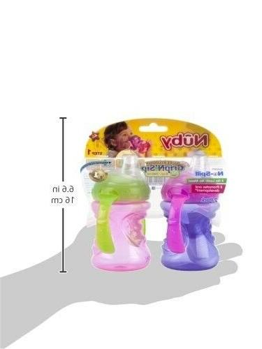 Nuby 2-Pack Two-Handle Super Grip N' Sip Pink