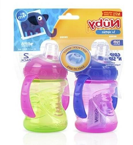 Nuby 2-Pack Super Spout N' Sip Pink and