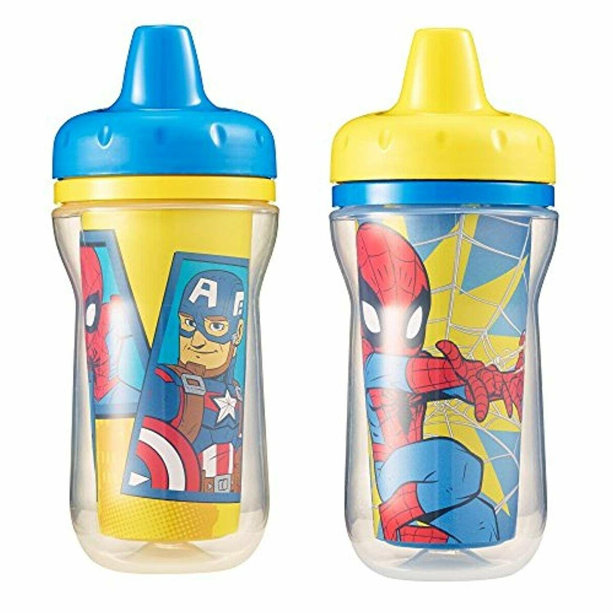 2 piece insulated sippy cup marvel