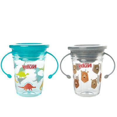 2 Nuby No Sippy With Handles For 360