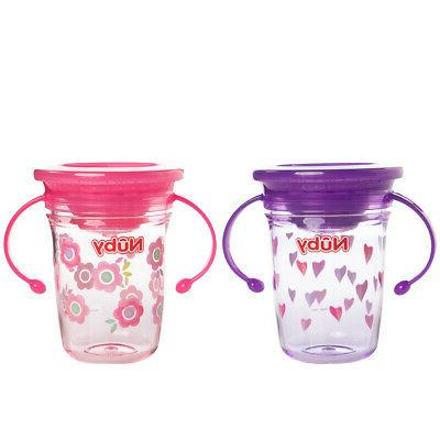 2 Nuby Sippy Cups With Handles For 360 Cup