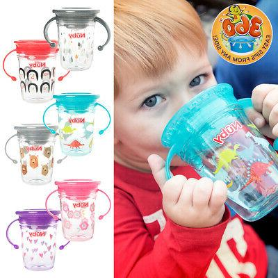 2pc nuby 360 wonder cup no spill