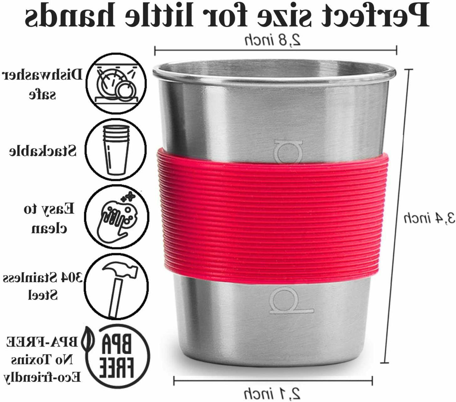 4pk Stainless Cups Sippy Cup for