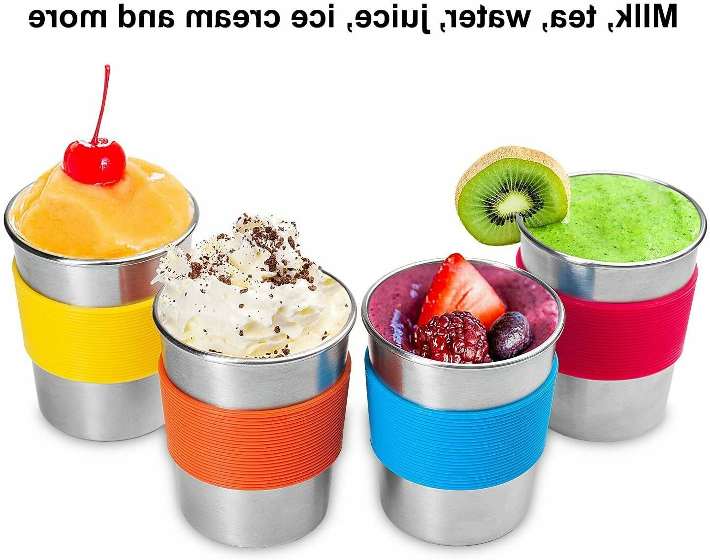 4pk Stainless Sippy Cup Home/travel